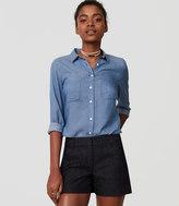 LOFT Denim Riviera Shorts with 4 Inch Inseam