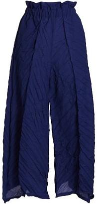 Issey Miyake Tectorum Pleated Paperbag Pants