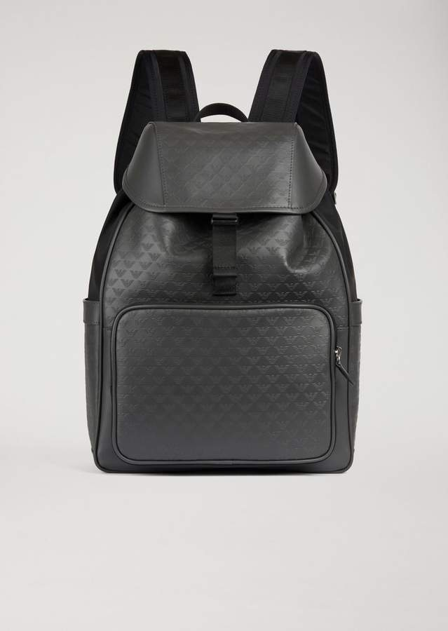 Emporio Armani Backpack With All-Over Logo Print