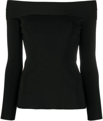 Victoria Beckham Off-Shoulder Long-Sleeve Top
