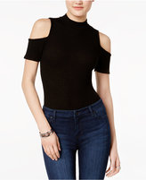 Bar III Mock-Neck Cold-Shoulder Top, Only at Macy's