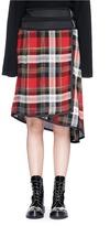 Public School 'Ilha' asymmetric belted plaid wrap skirt