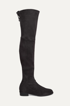 Stuart Weitzman Lowland Suede Over-the-knee Boots - Dark gray