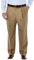 Haggar Big & Tall Premium No Iron Khaki - Classic Fit, Pleat Front, Hidden Expandable Waistband