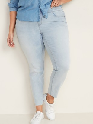 Old Navy High-Waisted Distressed Rockstar Super Skinny Plus-Size Jeggings