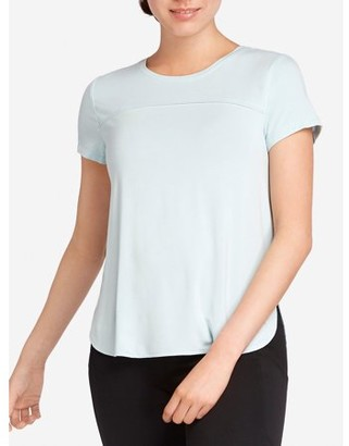 Danskin Women's Active Scallop High Low Hem T-Shirt