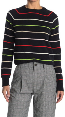 Ganni Striped Wool Knit Pullover