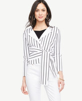 Ann Taylor Twist Tie Front Jacket