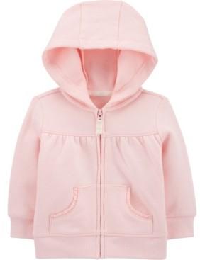 Carter's Baby Girls Zip-Front Fleece Hoody