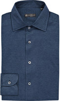 Corneliani Slim-fit single-cuff cotton-piqué shirt