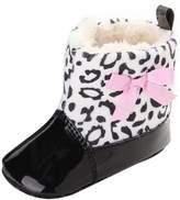 Leapfrog Baby Boys Girls Cute Bowknot Fleece Mid Calf Boots Prewalker