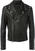 Diesel Black Gold studded trim jacket - men - Calf Leather/Rayon - 46