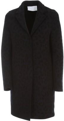 Harris Wharf London Women Cocoon Coat Boiled Wool Velvet Print
