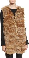Alice + Olivia Joss Fox & Rabbit Fur Knit Vest