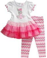 Sweet Heart Rose Sweetheart Rose Baby Girls Easter Bunny Dress and Leggings Set