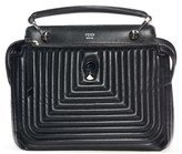 Fendi 'Dotcom Click' Quilted Leather Satchel - Black