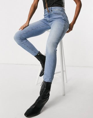 G Star G-Star high-waisted skinny jeans in light wash blue