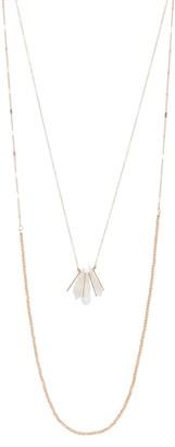 Panacea Peach Dual Row Beaded Necklace