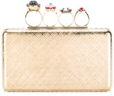 Alexander McQueen Knuckle box case - women - Brass/glass - One Size