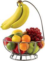 Mikasa Gourmet Basics Stripe Gunmetal Fruit Basket With Banana Hanger