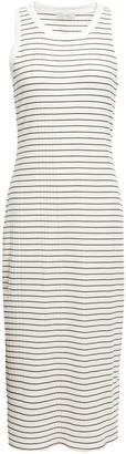 Joie Polymela Striped Ribbed Jersey Midi Dress