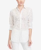 Lauren Ralph Lauren Petite Cotton Shirt