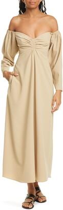 A.L.C. Calley Long Sleeve Off The Shoulder Maxi Dress