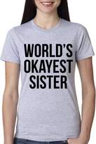Crazy Dog T-shirts Crazy Dog Tshirts Youth World's Okayest Sister T Shirt Funny Siblings Tee for Kids L
