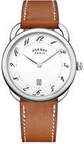 Hermes Arceau Watch with Leather Strap