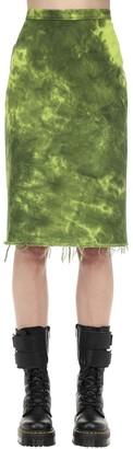 Marques Almeida Tie Dye Cotton Denim Pencil Skirt