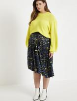 ELOQUII Asymmetric Pleated Skirt
