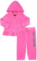 Juicy Couture Baby Logo Velour Glam Ring Ruffle Track Set