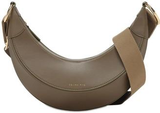 REJINA PYO Banan Python Print Leather Shoulder Bag
