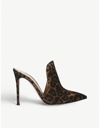 Gianvito Rossi Aramis 85 leopard-print suede mules