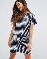 Jack Wills Oversized Stripe Dress With Pockets