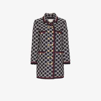 Gucci GG pattern tweed coat
