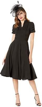 Unique Vintage 1940s Style Camilla Midi Dress
