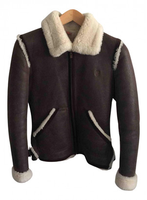 Timberland Brown Shearling Leather jackets