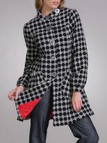 Circle Pattern Wool Coat
