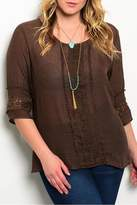 Ire Brown Lace Tunic