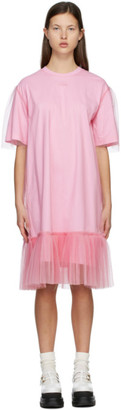 MSGM Pink Tulle Overlay Dress