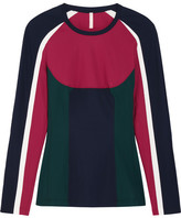 NO KA 'OI No Ka'Oi - Nuha Paneled Stretch-jersey Top - Merlot