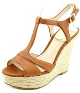 Vince Camuto Inslo 2 Open Toe Leather Wedge Sandal.