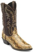 Dan Post Laredo by Snake Print Western Boots Casual Male XL