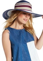 Vince Camuto Striped Floppy Hat