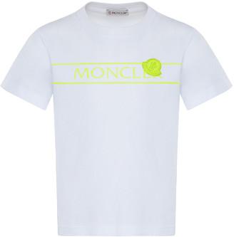 Moncler Girl's Contrast Logo Printed Crewneck T-Shirt, Size 4-6