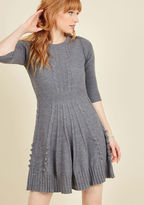 ModCloth Warm Cider Sweater Dress in Ash in L