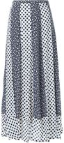 Loveless multi pattern detail hem pleated midi skirt