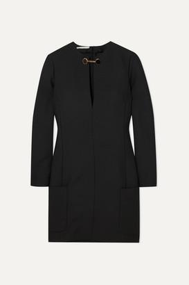 Stella McCartney Embellished Wool-blend Mini Dress - Black