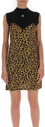 Marcelo Burlon County of Milan Leopard Print Panelled Dress